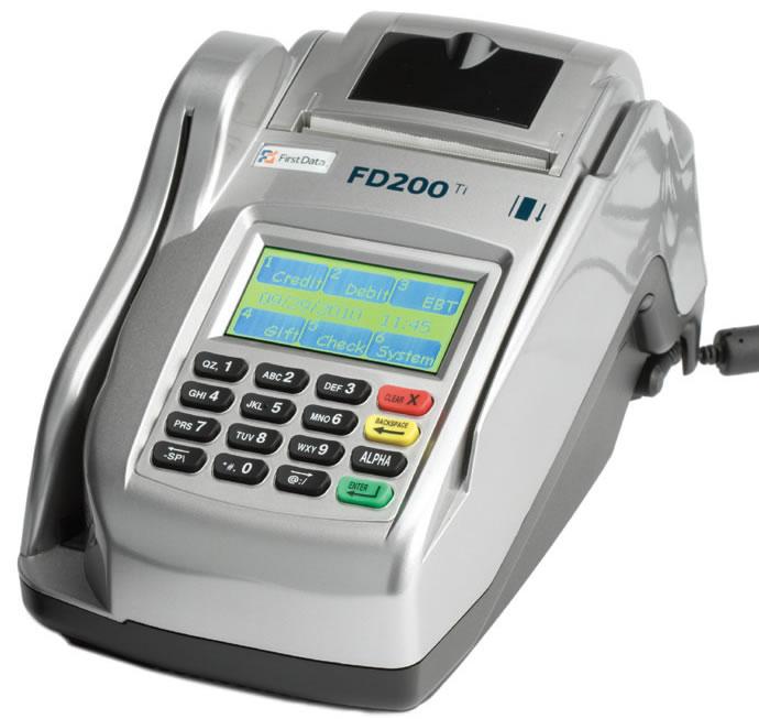 First Data FD200Ti Credit Card Terminal w/ TeleCheck ECA